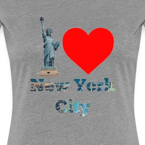 I Love New York City  - Women's Premium T-Shirt