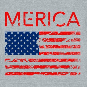 Merica Women's T-shirt - Unisex Tri-Blend T-Shirt by American Apparel