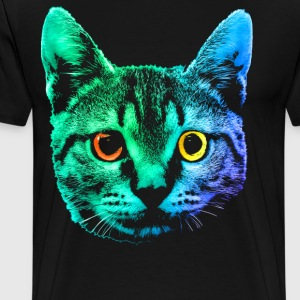 Big Cat Face - Men's Premium T-Shirt