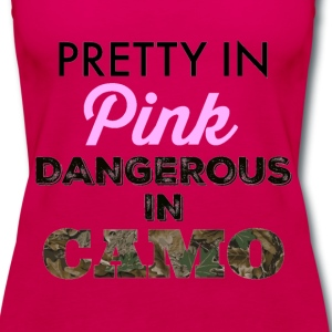 Pretty In Pink Dangerous in Camo - Women's Premium Tank Top