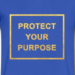 Protect Your Purpose V-neck Royal Blue - Men's V-Neck T-Shirt by Canvas