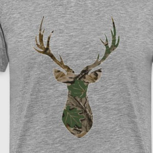 Camo Deer - Men's Premium T-Shirt