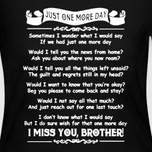 I Miss You Brother Shirt - Women's Long Sleeve Jersey T-Shirt