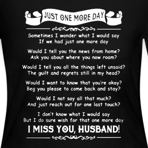 I Miss Husband Shirt - Women's Long Sleeve Jersey T-Shirt