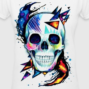 Retro Skull - Women's V-Neck T-Shirt