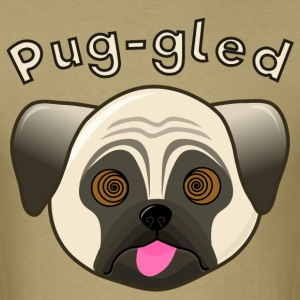 Humorous Pug - Puggled - Men's T-Shirt