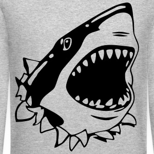 Great White Shark Long Sleeve Shirts - Crewneck Sweatshirt