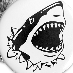 Great White Shark Buttons - Small Buttons