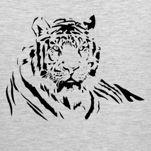 TIGER silhouette tattoo art Sportswear - Men's Premium Tank