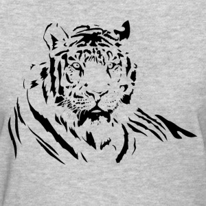 TIGER silhouette tattoo art T-Shirts - Women's T-Shirt
