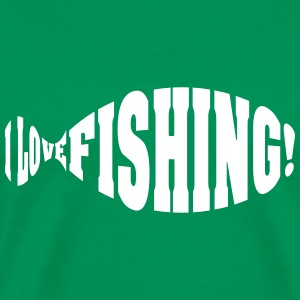 i love fishing T-Shirts - Men's Premium T-Shirt