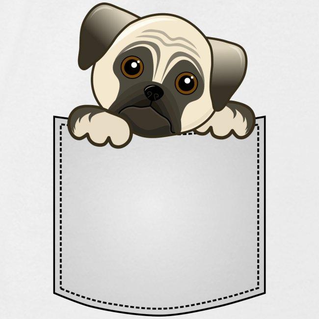 Artform Designs Pocket Pug Puppy Dog Womens T Shirt