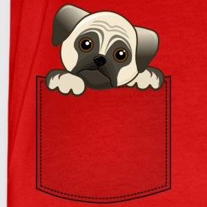 Pocket Pug Puppy Dog - Men's Premium T-Shirt