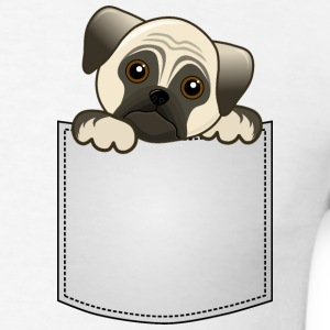 Pocket Pug Puppy Dog - Men's T-Shirt