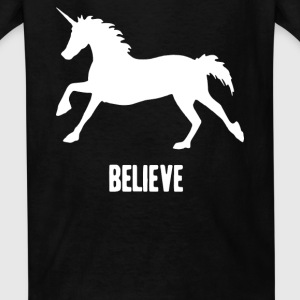 Unicorn Believe Kids' Shirts - Kids' T-Shirt