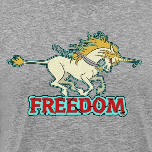unicorn freedom T-Shirts - Men's Premium T-Shirt