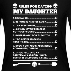 Rules Dating My Daughter - Women's Long Sleeve Jersey T-Shirt