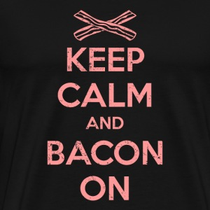 Keep Calm And Bacon On - Men's Premium T-Shirt