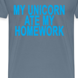 my_unicorn_ate_my_homework_ - Men's Premium T-Shirt