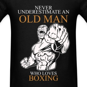 Never Underestimate An Old Man Boxing T-Shirts - Men's T-Shirt