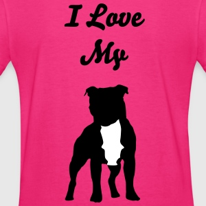 I love my staffordshire bull terrier - Women's T-Shirt