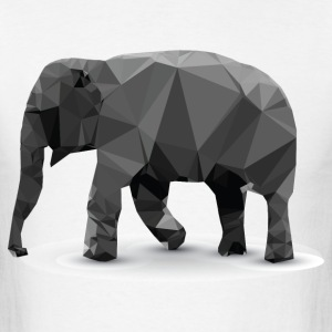 Polygonal Elephant - Men's T-Shirt