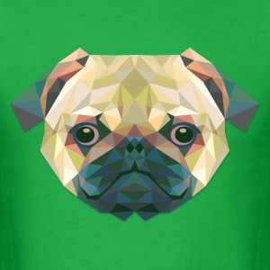 Polygonal Dog - Men's T-Shirt