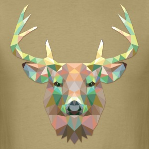 Polygonal Deer - Men's T-Shirt