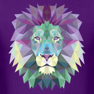 Polygonal Lion Head - Men's T-Shirt
