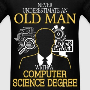 Never Underestimate Old Man Computer Science T-Shirts - Men's T-Shirt