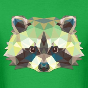 Polygonal Raccoon - Men's T-Shirt
