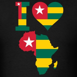 I Love Africa Map Togo Flag - Men's T-Shirt