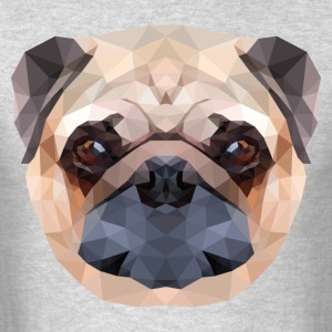 Polygonal Pug Dog - Men's T-Shirt