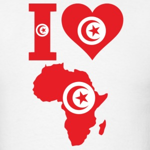 I Love Africa Map Tunisia Flag - Men's T-Shirt