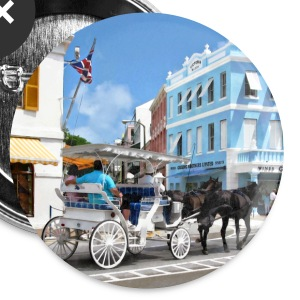 Hamilton Bermuda Carriage Ride Buttons - Large Buttons