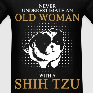 Never Underestimate An Old Woman With A Shih Tzu T-Shirts - Men's T-Shirt