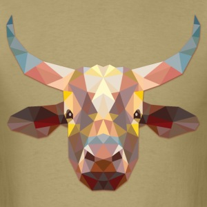 Polygonal Cow - Men's T-Shirt