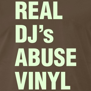 REAL DJ's ABUSE VINYL T-Shirts - Men's Premium T-Shirt
