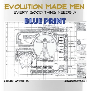 Evolution Made MEN - Every good thing Need a BLUE  - Water Bottle