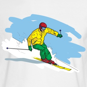Downhill Skiing Long Sleeve Shirts - Men's Long Sleeve T-Shirt