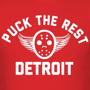 Puck the Rest Detroit T-Shirts - Men's T-Shirt