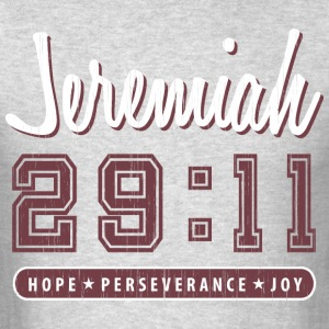 Jeremiah 29:11 Red Vintage Varsity - Men's T-Shirt
