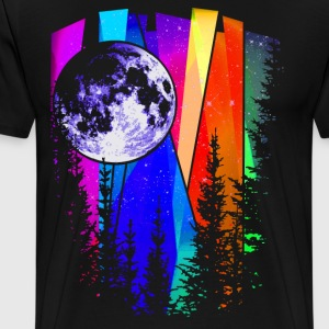 Northern Lights Moon - Men's Premium T-Shirt