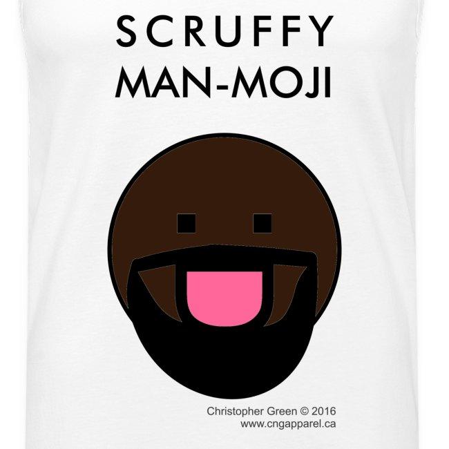 Scruffy Man-moji (Dark Skin Tone)