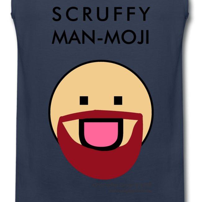 Scruffy Man-moji (Light Skin Tone)