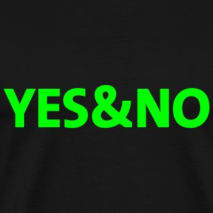 yes and no - Men's Premium T-Shirt