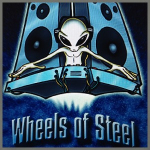 DJ GEE Wheels Of Steel Space Aliens - Men's Premium T-Shirt