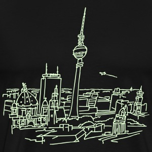Panorama of Berlin (glows in dark) - Men's Premium T-Shirt