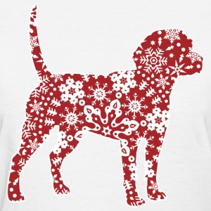 Christmas Boho Red Beagle T-Shirts - Women's T-Shirt