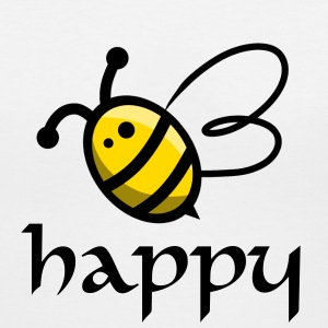Bee Happy - Women's V-Neck T-Shirt